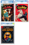 Silver Age (1956-1969):Western, Lone Ranger #100, 112, and 118 CGC-Graded Group (Dell, 1956-58)....(Total: 3 Comic Books)
