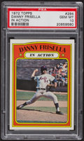 Baseball Cards:Singles (1970-Now), 1972 Topps Danny Frisella In Action #294 PSA Gem MT 10. ...