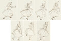 Animation Art:Concept Art, Alice in Wonderland Alice Concept Art by Marc Davis (Walt Disney, 1951)....