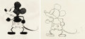 Animation Art:Production Drawing, Mickey Mouse Animation Drawings by Les Clark Group of 2 (Walt Disney, 1968).... (Total: 2 Original Art)