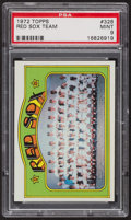 Baseball Cards:Singles (1970-Now), 1972 Topps Red Sox Team #328 PSA Mint 9 - Only One Higher. ...