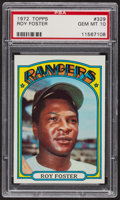 Baseball Cards:Singles (1970-Now), 1972 Topps Roy Foster #329 PSA Gem MT 10. ...