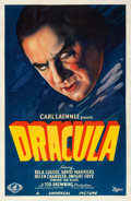 "Movie Posters:Horror, Dracula (Universal, 1931). One Sheet (27"" X 41"") Style A.. ..."
