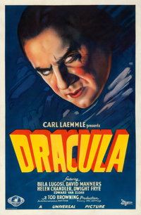 "Dracula (Universal, 1931). One Sheet (27"" X 41"") Style A"
