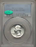 Washington Quarters, 1963 25C Type B Reverse, FS-901, MS66 PCGS. CAC. PCGS Population:(25/0). ...