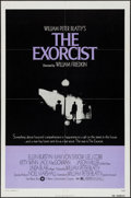 """Movie Posters:Horror, The Exorcist (Warner Brothers, 1974). One Sheet (27"""" X 41"""") & Uncut Pressbook (16 Pages, 11"""" X 14""""). Horror.. ... (Total: 2 Items)"""