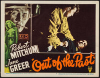 """Out of the Past (RKO, 1947). Lobby Card (11"""" X 14""""). Film Noir"""
