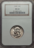 Washington Quarters, 1945 25C MS66 NGC, and a 1945-S 25C MS66 NGC.... (Total: 2 coins)