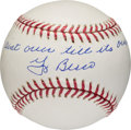"Autographs:Baseballs, 2000's Yogi Berra ""It Ain't Over Till It's Over"" Single SignedBaseball, PSA/DNA Mint+ 9.5...."