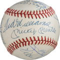Baseball Collectibles:Balls, 1980's-2010's 500 Home Run Club Baseball Signed by 18....