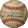 Baseball Collectibles:Balls, 1944 Connie Mack Day Multi-Signed Baseball with Ruth, Wagner, Johnson....