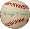 Baseball Collectibles:Balls, 1980's Burleigh Grimes Single Signed Baseball....