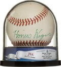 Baseball Collectibles:Balls, Circa 1950 Honus Wagner Single Signed Baseball, PSA/DNA NM-MT 8....