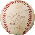 Baseball Collectibles:Balls, 1982 Gaylord Perry 300th Win Game Used Baseball....
