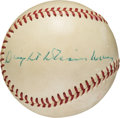 Autographs:Baseballs, Circa 1960 President Dwight D. Eisenhower Single Signed Baseball....