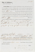 Autographs, [John C. Hays]. John Caperton Document Signed on Behalf of Hays....