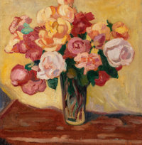 Louis Valtat (French, 1869-1952) Bouquet de roses, 1911 Oil on canvas 16-1/4 x 15-7/8 inches (41