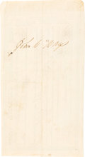 Autographs, John C. Hays Treasury Warrant Signed....