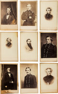 Photography:CDVs, Lot of Nine Cartes de Visite of Confederate Army Generals and Officers....