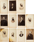 Photography:CDVs, Lot of Eleven Cartes de Visite of Confederate Army and Navy Generals and Officers....