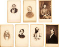 Photography:CDVs, Lot of Seven Cartes de Visite of Confederate Army Generals and Officers....