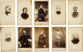 Photography:CDVs, Lot of Ten Cartes de Visite of Confederate Army Generals and Officers....