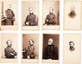 Photography:CDVs, Eight Cartes de Visite of Identified Civil War Officers....