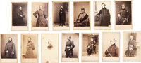 Thirteen Cartes de Visite of Identified Civil War Officers