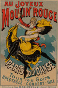 Fine Art - Work on Paper:Print, Alfred Choubrac (French, 1871-1930). Au Jouyeaux MoulinRouge, c. 1896. Lithograph in colors on paper. 47 x 31-1/4inche...