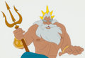 Animation Art:Production Cel, The Little Mermaid King Triton Production Cel (Walt Disney,1989). ...