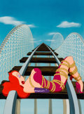Animation Art:Production Cel, Roller Coaster Rabbit Jessica Rabbit Production Cel (WaltDisney/Amblin, 1990). ...