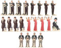 Memorabilia:Movie-Related, Vintage 1938 Charlie McCarthy Radio Party Game PlayingPieces Complete Set of 21 (Standard Brands Inc., 1938).... (Total:21 Items)