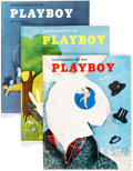 Magazines:Miscellaneous, Playboy Group of 10 (HMH Publishing, 1954-55) Condition: AverageVG.... (Total: 10 Items)