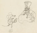 Animation Art:Production Drawing, Trader Mickey Mickey Mouse and Native Chief AnimationDrawing (Walt Disney, 1932). ...
