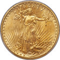 Saint-Gaudens Double Eagles, 1908-D $20 No Motto MS66 PCGS....