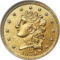Classic Quarter Eagles, 1839-D $2 1/2 MS60 NGC. Winter 1-A, Variety 26, R.3. ...