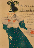Fine Art - Work on Paper:Print, Henri de Toulouse-Lautrec (French, 1864-1901). La RevueBlanche, 1895. Lithograph in colors on paper. 49-1/2 x 35-3/4in...