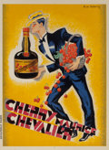 Fine Art - Work on Paper:Print, Roger de Valerio (French, 1896-1951). Cherry-Brandy, MauriceChevalier, c. 1940. Lithograph in colors on paper. 63 x 46-...