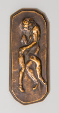 Bronze:European, An Auguste Rodin (French, 1840-1917) Bronze ProtectionPlaque, circa 1916. Marks: Rodin. 3-3/4 inches high x...