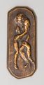 An Auguste Rodin (French, 1840-1917) Bronze Protection Plaque, circa 1916 Marks: Rodin 3-3/4 inches high x