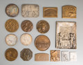 Decorative Arts, Continental:Other , Seventeen Various European Silver, Bronze, Silver-PlatedCommemorative Table Medals and Plaques. 5-3/8 inches high x 4-1/4i... (Total: 17 Items)