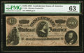 """Confederate Notes:1864 Issues, """"Havana"""" CT65/491 Counterfeit $100 1864.. ..."""