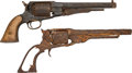 Handguns:Single Action Revolver, Lot of Two Relic State Remington Single Action Revolvers....(Total: 2 Items)