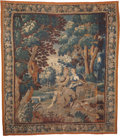 Decorative Arts, Continental:Other , A Flemish Verdure Tapestry, 18th century with later elements. 113inches high x 99 inches wide (287.0 x 251.5 cm). ...