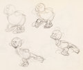 Animation Art:Production Drawing, Snow White and the Seven Dwarfs Doc and Dopey AnimationRoughs Group of 2 (Walt Disney, 1937). ... (Total: 2 Items)