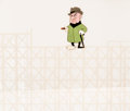 Animation Art:Production Cel, Trouble Indemnity Mr. Magoo Production Cel and MasterProduction Background (UPA, 1950). ...