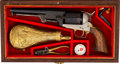 Handguns:Single Action Revolver, Cased and Engraved Reproduction Colt Dragoon Single Action Revolver....