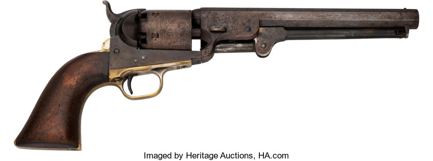 Handguns:Single Action Revolver, Col. Robert M. Powell Inscribed Colt Model 1851 Navy Single ActionRevolver....