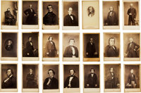Twenty-one Cartes de Visite of Confederate States Politicians and More