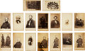 Photography:CDVs, Sixteen Cartes de Visite of Identified Civil War Officers and Notables....